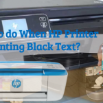 What to do if hp printer is not printing black text