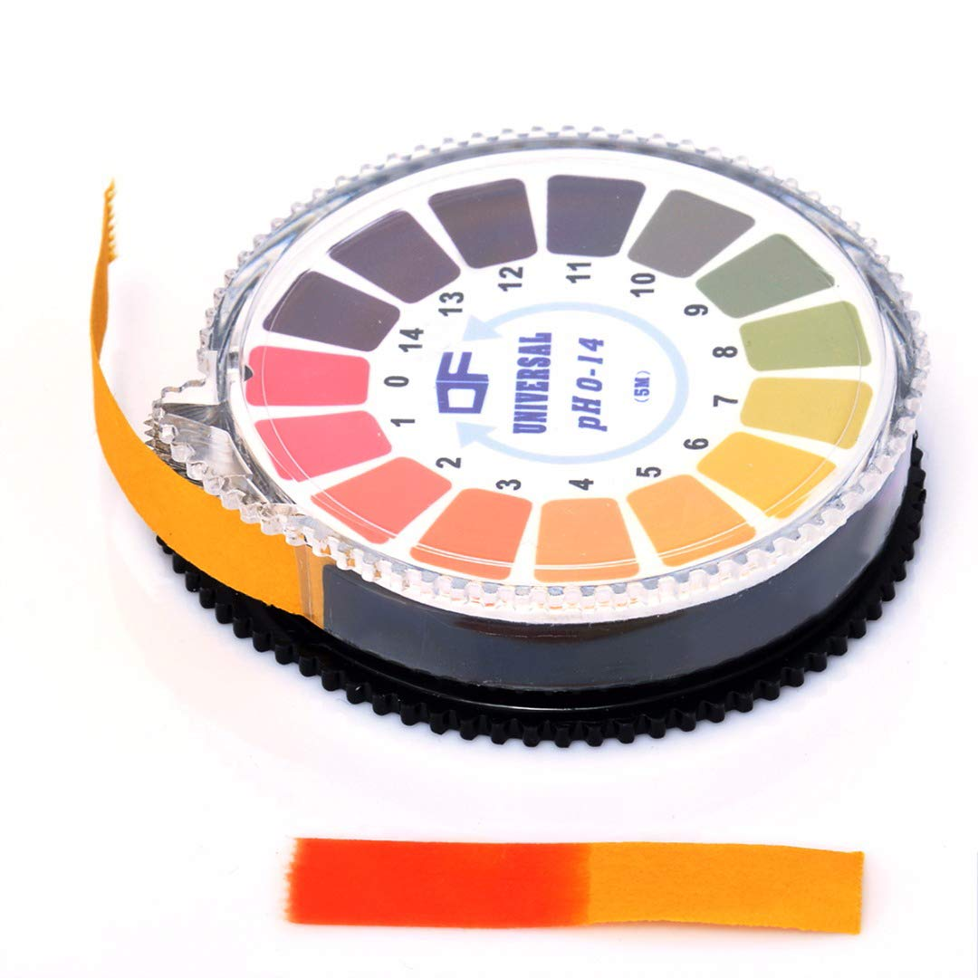 AmiciKart 5 Meter PH Test Strips Acid Test Paper Water Litmus Testing Kit